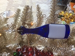 Blue Wine Bottle Ornament