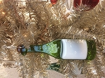 Light Green Wine Bottle Ornament